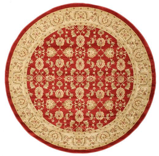 Ziegler Kaspin - Red Rug Ø 250 Oriental Round Rust Red/Dark Beige Large ( Turkey)
