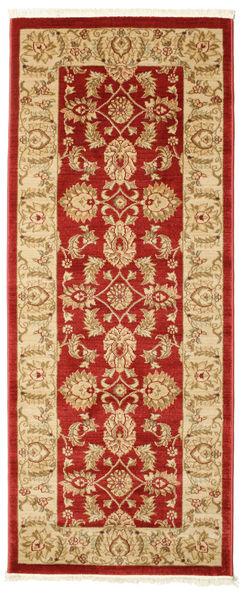 Ziegler Kaspin - Red Rug 80X200 Oriental Hallway Runner  Dark Beige/Crimson Red ( Turkey)