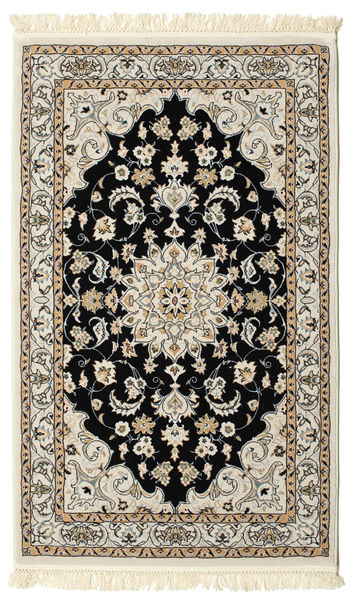 Nain Mahak Rug 100X160 Oriental Light Grey/Beige ( Turkey)