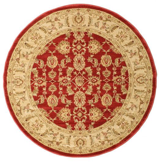 Ziegler Kaspin - Red Rug Ø 150 Oriental Round Rust Red/Yellow ( Turkey)