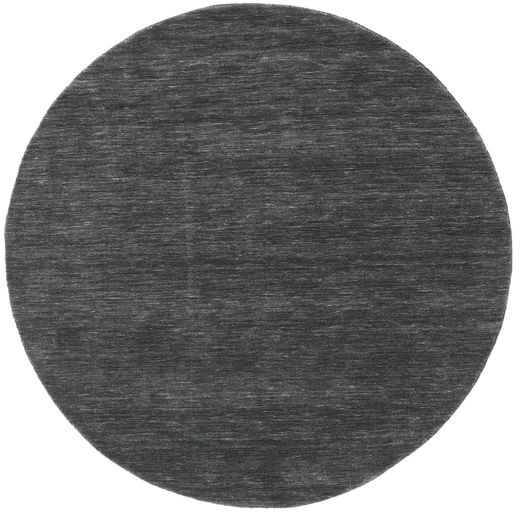 Handloom - Black/Grey Rug Ø 150 Modern Round Dark Grey/Black (Wool, India)