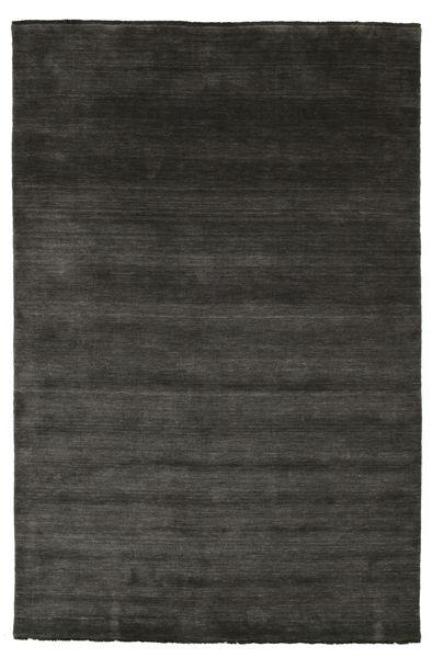 Handloom Fringes - Black/Grey Rug 200X300 Modern Black (Wool, India)