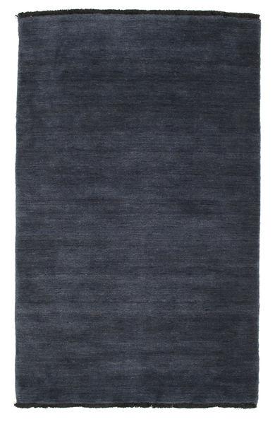 Handloom Fringes - Dark Blue Rug 100X160 Modern Dark Blue/Dark Grey (Wool, India)
