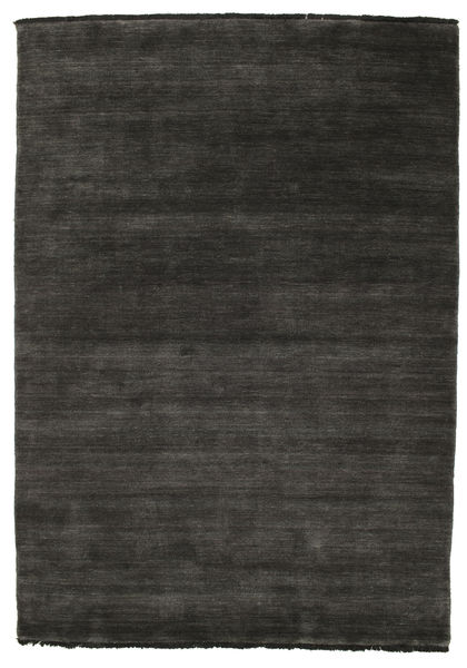 Handloom Fringes - Black/Grey Rug 140X200 Modern Black (Wool, India)