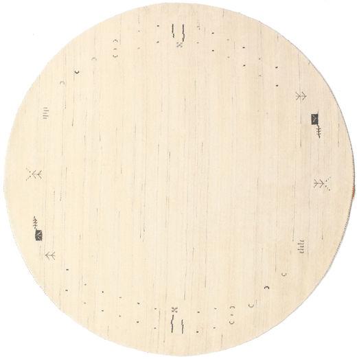 Gabbeh Loom Frame - Off White Rug Ø 200 Modern Round Beige/Light Pink (Wool, India)