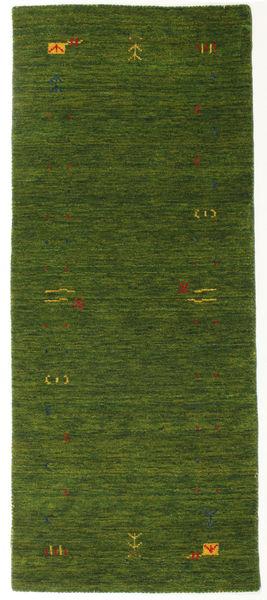 Gabbeh Loom Frame - Green Rug 80X200 Modern Hallway Runner  Dark Green (Wool, India)