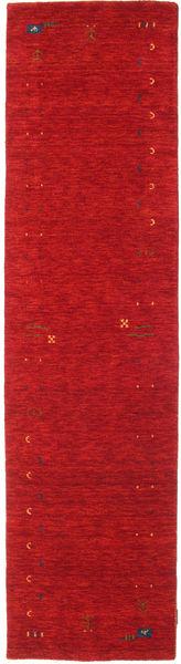 Gabbeh Loom Frame - Red Rug 80X300 Modern Hallway Runner  Crimson Red (Wool, India)