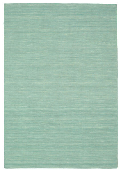 Kilim Loom - Mint Green Rug 160X230 Authentic  Modern Handwoven Turquoise Blue/Pastel Green/Light Blue (Wool, India)