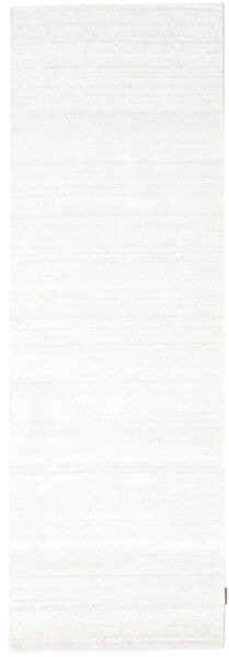 Bamboo Silk Loom - Light Natural Rug 80X300 Modern Hallway Runner  Beige/White/Creme ( India)