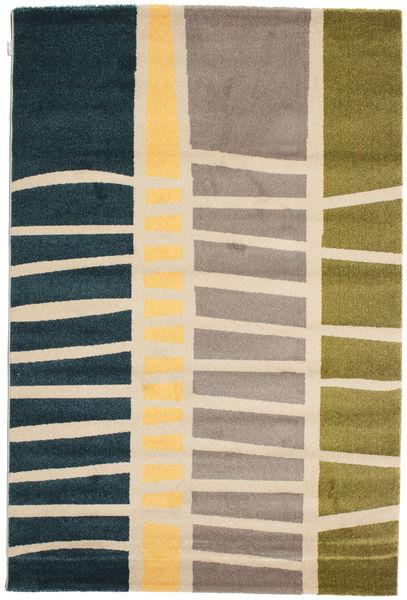 Abstract Bamboo Rug 160X230 Modern Dark Blue/Light Grey ( Turkey)