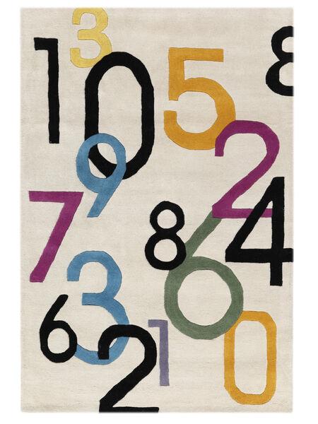 Lucky Numbers - Light Rug 120X180 Modern Beige/Light Grey (Wool, India)