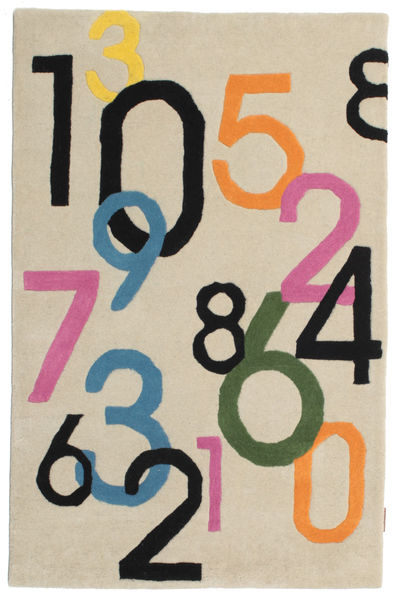 Lucky Numbers - Light Rug 100X160 Modern Beige/Light Grey (Wool, India)