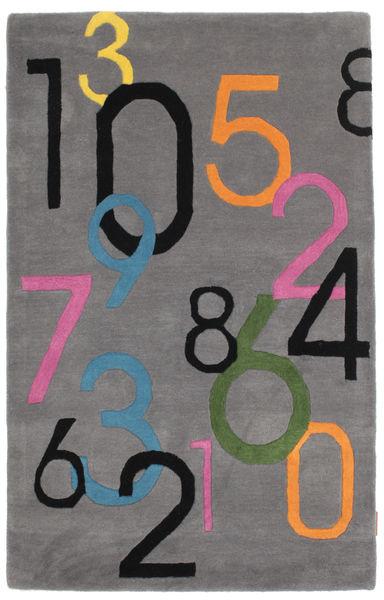 Lucky Numbers - Grey Rug 100X160 Modern Dark Brown/Dark Grey (Wool, India)