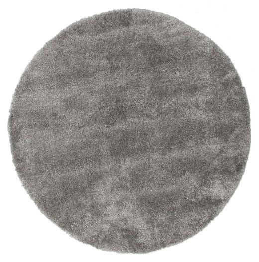 Shaggy Sadeh - Grey Rug Ø 150 Modern Round Dark Grey/Light Grey ( Turkey)
