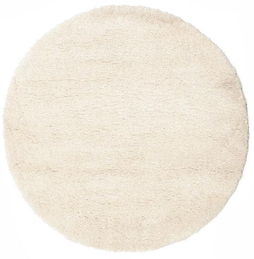 Shaggy Sadeh - Off White Rug Ø 150 Modern Round Beige ( Turkey)