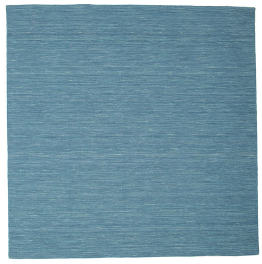 Kilim Loom - Blue Rug 200X200 Authentic  Modern Handwoven Square Turquoise Blue/Blue (Wool, India)