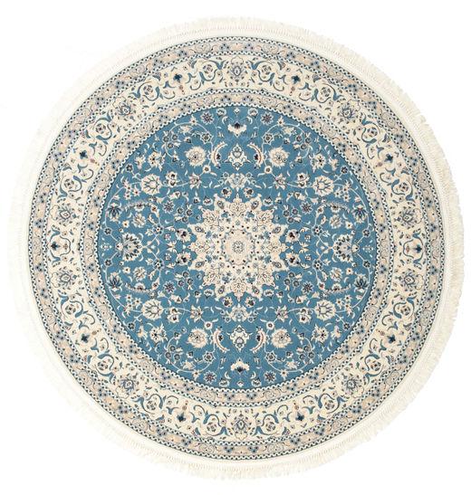 Nain Emilia - Light Blue Rug Ø 150 Oriental Round Beige/Light Grey ( Turkey)