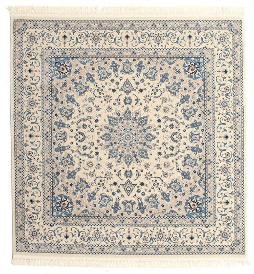 Nain Emilia - Cream/Light Blue Rug 150X150 Oriental Square Light Grey/Beige ( Turkey)