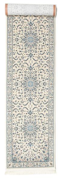 Nain Emilia - Cream/Light Blue Rug 80X300 Oriental Hallway Runner  Light Grey/Beige ( Turkey)