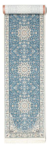 Nain Emilia - Light Blue Rug 80X350 Oriental Hallway Runner  Light Grey/Light Blue ( Turkey)