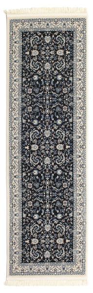 Nain Florentine - Dark Blue Rug 80X250 Oriental Hallway Runner  Dark Grey/Light Grey ( Turkey)