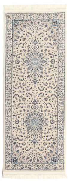 Nain Emilia - Cream/Light Blue Rug 80X200 Oriental Hallway Runner  Light Grey/Beige ( Turkey)
