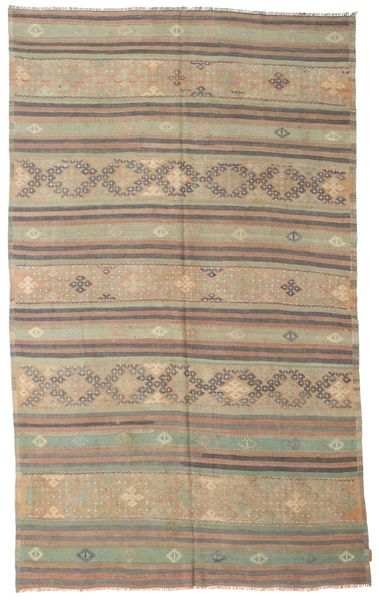 Kilim Semi Antique Turkish Rug 186X301 Authentic  Oriental Handwoven Light Brown/Light Grey (Wool, Turkey)
