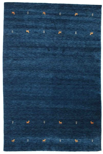 Gabbeh Loom Two Lines - Dark Blue Rug 190X290 Modern Dark Blue (Wool, India)