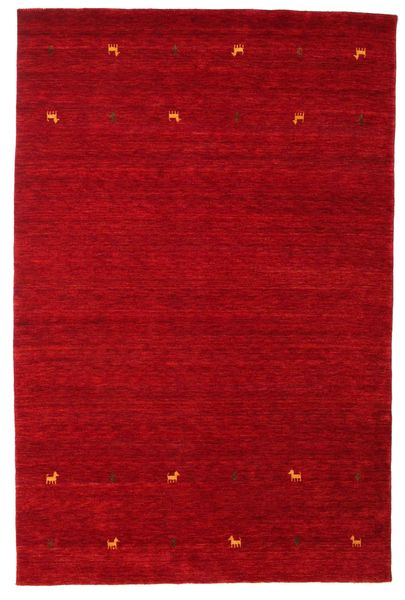 Gabbeh Loom Two Lines - Red Rug 190X290 Modern Crimson Red/Dark Red (Wool, India)