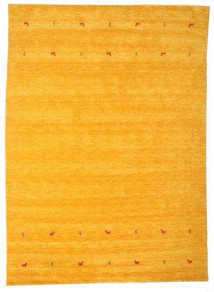 Gabbeh Loom Two Lines - Yellow Rug 240X340 Modern Orange/Yellow (Wool, India)