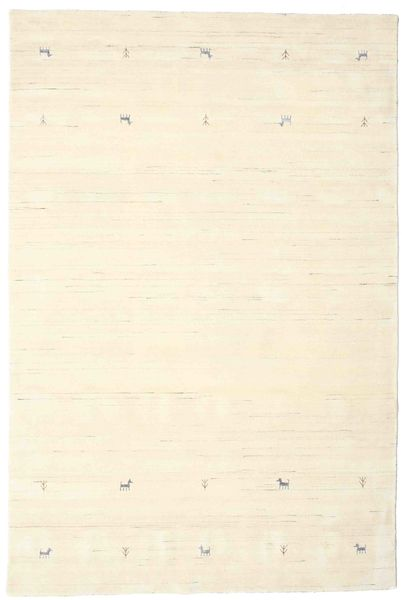 Gabbeh Loom Two Lines - Off White Rug 190X290 Modern Beige/White/Creme (Wool, India)