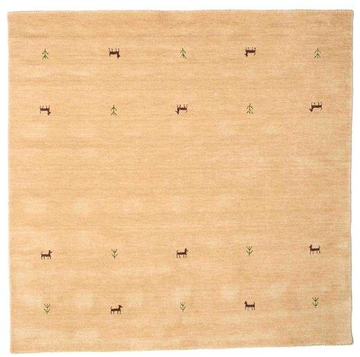 Gabbeh Loom Two Lines - Beige Rug 200X200 Modern Square Light Brown/Yellow/Dark Beige (Wool, India)