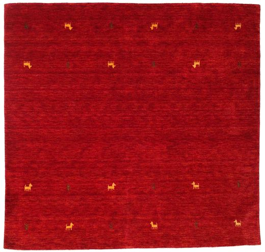 Gabbeh Loom Two Lines - Red Rug 200X200 Modern Square Crimson Red/Dark Red (Wool, India)