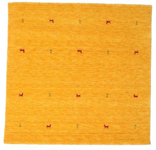 Gabbeh Loom Two Lines - Yellow Rug 200X200 Modern Square Orange/Yellow (Wool, India)