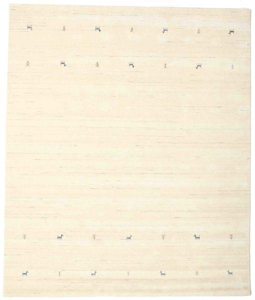 Gabbeh Loom Two Lines - Off White Rug 240X290 Modern Beige/White/Creme (Wool, India)