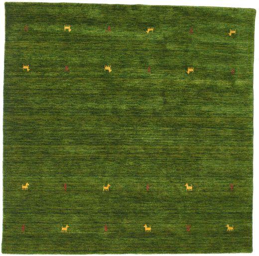 Gabbeh Loom Two Lines - Green Rug 200X200 Modern Square Dark Green (Wool, India)