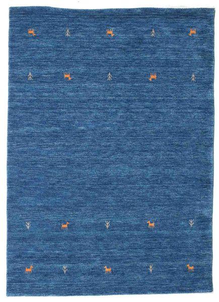 Gabbeh Loom Two Lines - Blue Rug 140X200 Modern Dark Blue/Blue (Wool, India)