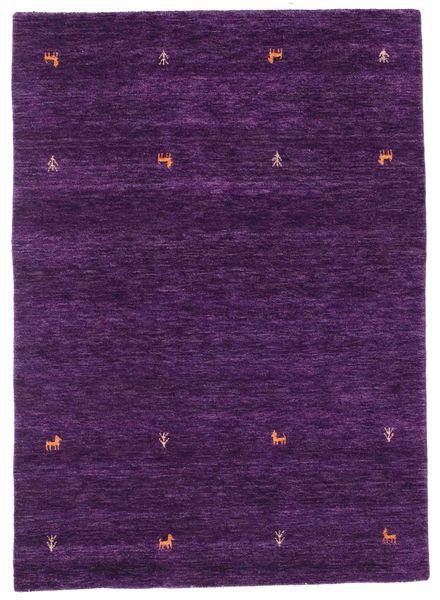 Gabbeh Loom Two Lines - Purple Rug 140X200 Modern Dark Purple (Wool, India)