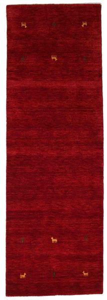 Gabbeh Loom Two Lines - Red Rug 80X250 Modern Hallway Runner  Dark Red (Wool, India)