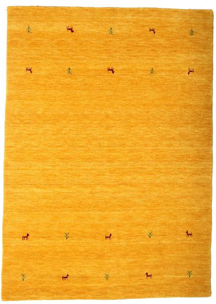 Gabbeh Loom Two Lines - Yellow Rug 160X230 Modern Orange/Light Brown (Wool, India)