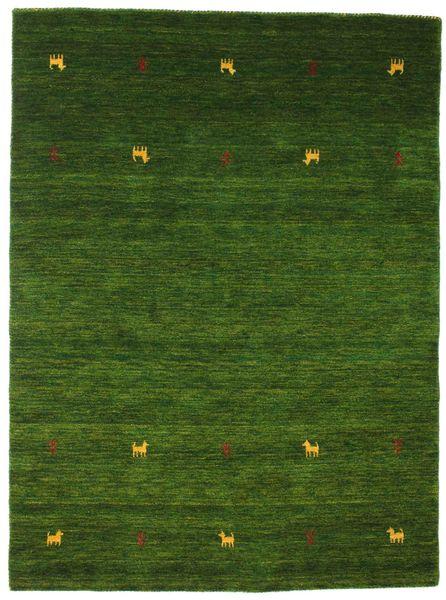 Gabbeh Loom Two Lines - Green Rug 140X200 Modern Dark Green (Wool, India)