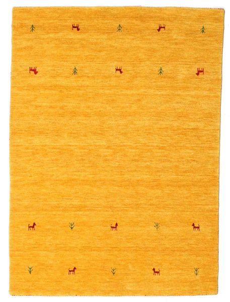 Gabbeh Loom Two Lines - Yellow Rug 140X200 Modern Yellow/Orange (Wool, India)