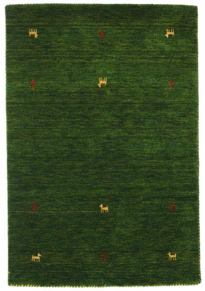 Gabbeh Loom Two Lines - Green Rug 100X160 Modern Dark Green (Wool, India)