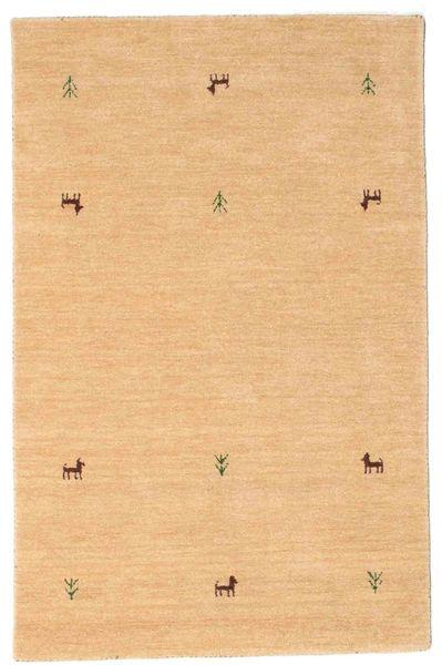 Gabbeh Loom Two Lines - Beige Rug 100X160 Modern Yellow/Light Brown (Wool, India)