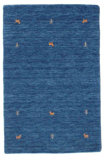 Gabbeh Loom Two Lines - Blue Rug 100X160 Modern Dark Blue/Blue (Wool, India)