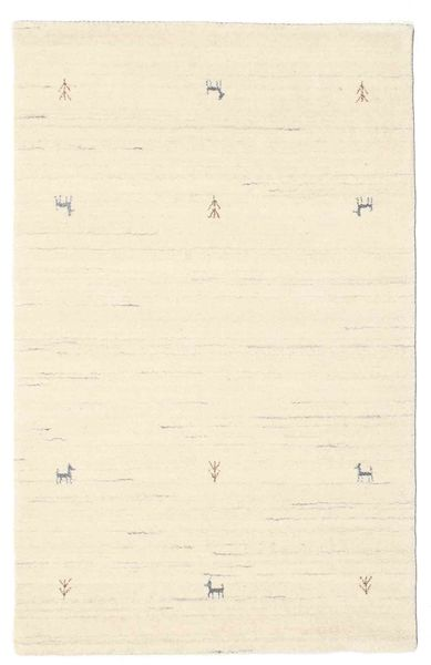 Gabbeh Loom Two Lines - Off White Rug 100X160 Modern Beige/Yellow (Wool, India)