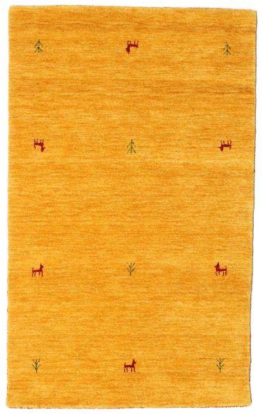 Gabbeh Loom Two Lines - Yellow Rug 100X160 Modern Yellow/Orange (Wool, India)