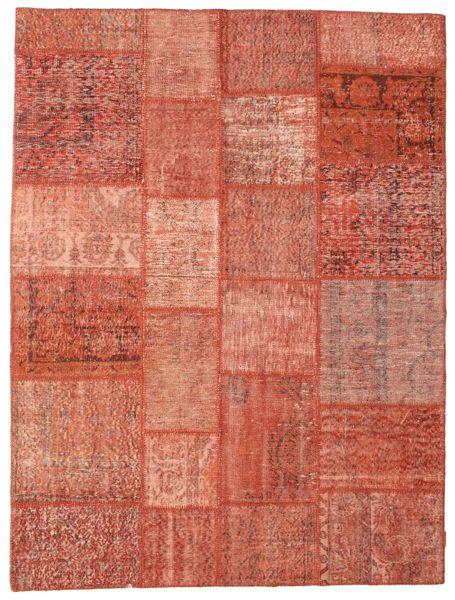 Patchwork Rug 174X231 Authentic  Modern Handknotted Crimson Red/Light Pink (Wool, Turkey)