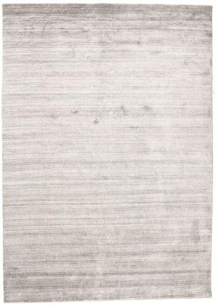 Bamboo Silk Loom - Warm Grey Rug 160X230 Modern Light Grey/White/Creme ( India)