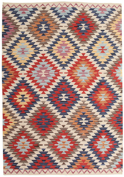 Kilim Oushak Rug 180X275 Authentic  Modern Handwoven Light Grey/Beige (Wool, India)